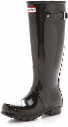 Hunter Boots Original Tall Gloss Boots $150 thestylecure.com