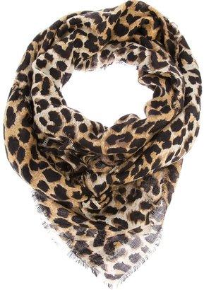 Laurence Dolige leopard print scarf
