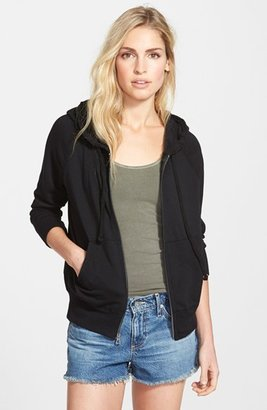Women's James Perse Full Zip Cotton Hoodie $165 thestylecure.com