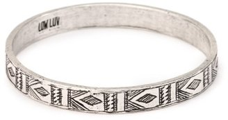 Low Luv x Erin Wasson by Erin Wasson Afghani Engraved Silver Bangle Bracelet