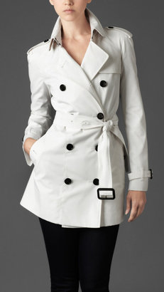 Burberry Short Raglan Double Breasted Trench Coat
