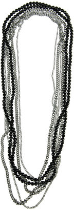 Forever 21 Chain & Bead Necklace