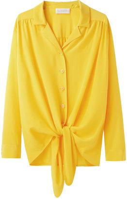 Cacharel long sleeve silk shirt