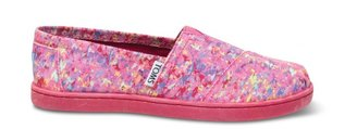 Toms Pink print splatter youth classics