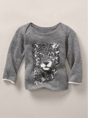 Gap Stella McCartney leopard intarsia cashmere sweater