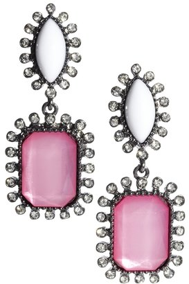 Johnny Loves Rosie Square Cut Drop Earrings