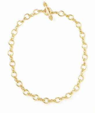 "Elizabeth Locke Riviera Gold 19k Link Necklace, 17""L"