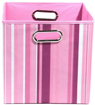 Bed Bath & Beyond Modern Littles Rose Canvas Folding Storage Bin in Stripes
