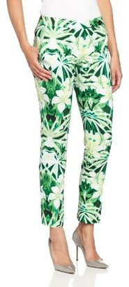 Vince Camuto Women's Tropic Printed Skinny Ankle Pant