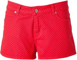 Paul & Joe Hot Red Mini-Dot Stretch Cotton Shorts