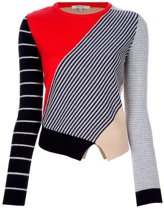 Carven multi patterned sweater