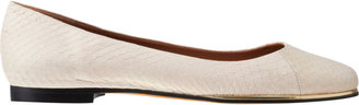 Givenchy Snakeskin Round Toe Ballet Flats