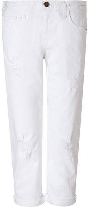 Current/Elliott White Cotton Sugar Destroyed Jeans