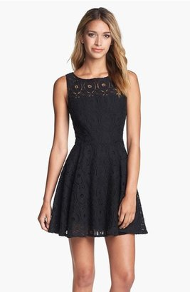 BB Dakota Renley Lace Fit & Flare Minidress