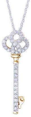 Diamond 0.25 CT.T.W. Key Pendant in Sterling Silver
