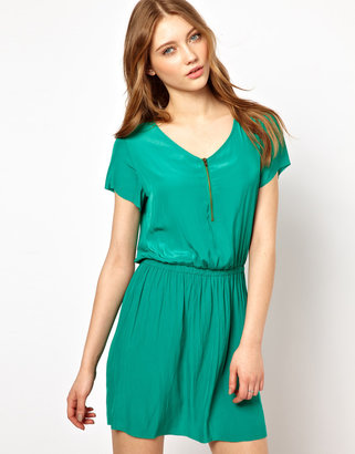 American Vintage Woven Dress With Zip