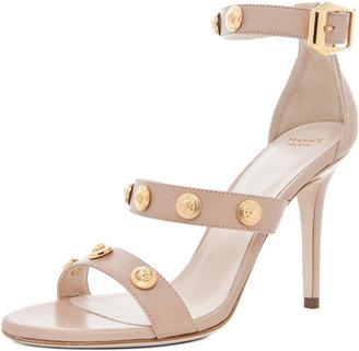 Versace 3 Strap Heel in Nude