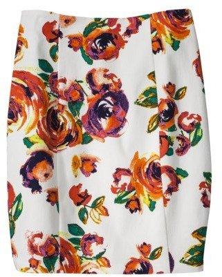 AMBAR Women's Pencil Skirt - Rose Print