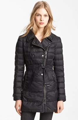 Burberry 'Hallowell' Down Trench Coat
