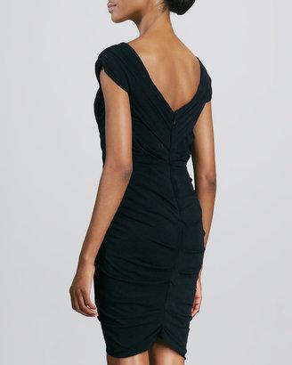 Nicole Miller Draped Jersey Cocktail Dress