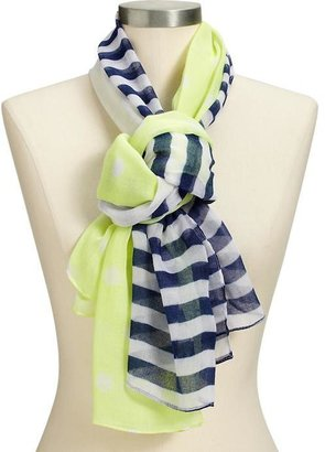 Old Navy Women's Tulips-and-Dots Gauze Scarves
