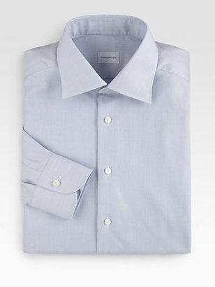 Ermenegildo Zegna Textured Solid Dress Shirt