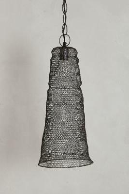 Anthropologie Mesh Cylinder Pendant