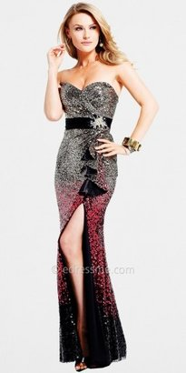 Faviana Elegant Sequin Formal Gown