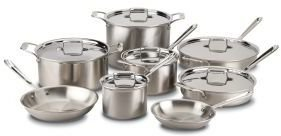 All-Clad d5 Brushed Stainless Steel Cookware Set, 14 piece