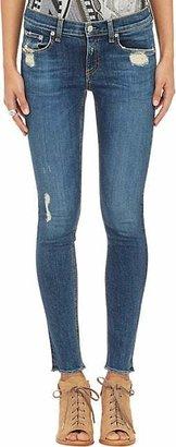 Rag & Bone Women's Skinny Distressed Jeans - Blue