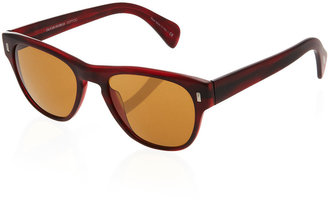 Oliver Peoples Cosmik Tone Sunglasses, Matte Red Havana