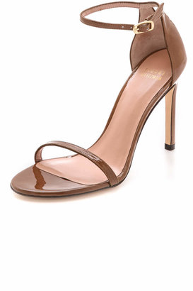 Stuart Weitzman Nudistsong 90mm Sandals $398 thestylecure.com