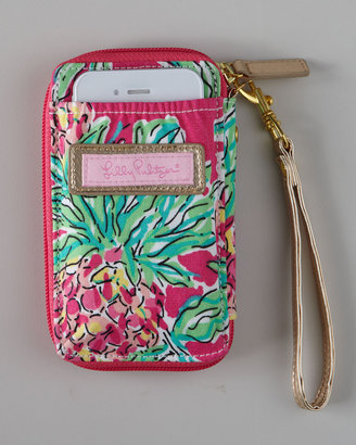"""Lilly Pulitzer Pink """"Spike the Punch"""" iPhone Wristlet"""
