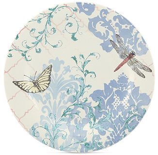 Lenox CLOSEOUT! Dinnerware, Collage by Alice Drew Butterfly Dinner Plate