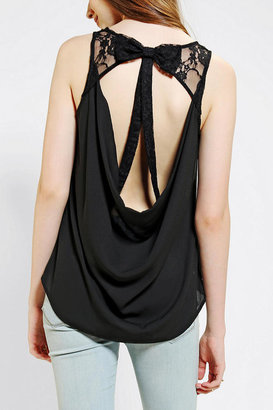 Urban Outfitters Pins And Needles Lace Bow Tank Top