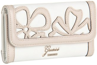 GUESS Floren Slim Clutch (White Multi) - Bags and Luggage