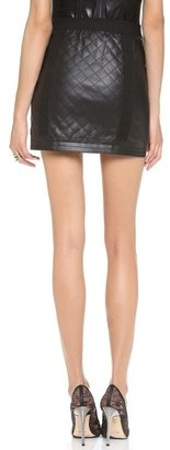 BCBGMAXAZRIA Roxy Quilted Faux Leather Skirt