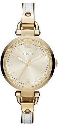 Fossil 'Georgia' Leather Bangle Watch, 32mm