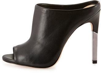 BCBGMAXAZRIA Dena Nappa Leather Mule Sandal, Black