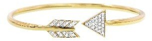 India Hicks Bow and Arrow Bangle with Diamonds