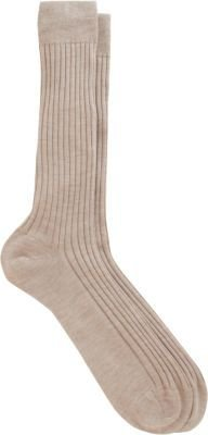 Barneys New York Fine Gauge Wide Rib Socks