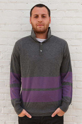 Simon Spurr Cashmere Stripe LS Polo
