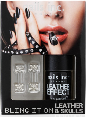 Nails Inc Bling It On Leather and Skulls Black Collection