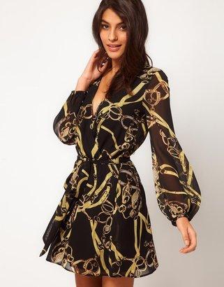 Asos Wrap Dress in Chain Print