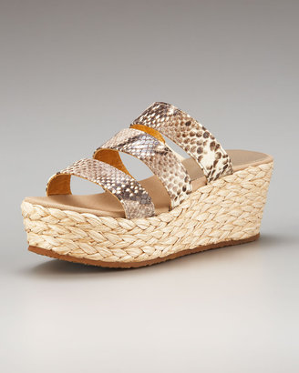 Bettye Muller Python Wedge Slide