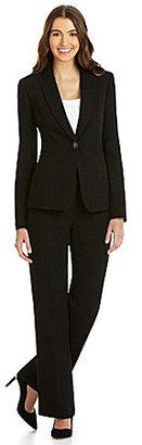 Tahari by Arthur S. Levine Tahari by ASL 2-Piece Long-Sleeve Crepe Pant Suit
