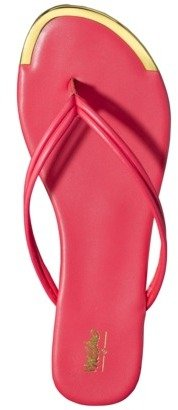 Flip Women's Mossimo® Lena Metal Toe Flop - Coral Blossom 7
