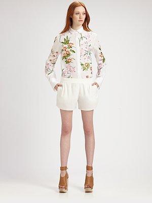 Chloé Cotton Floral Blouse