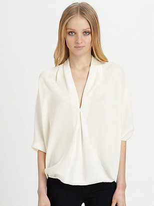 Ramy Brook Robi Silk Blouson Top