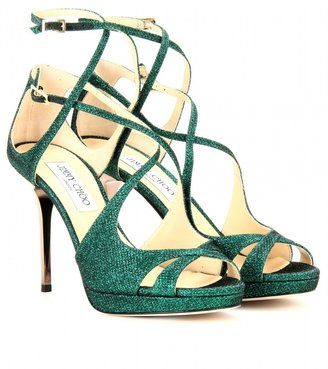 Jimmy Choo MISTY GLITTER SANDALS